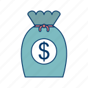 cash, dollar, financial, investment, payment icon