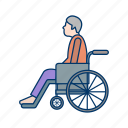 old man, pension, relax, rest, retired, retirement icon