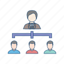 management, network, organization, people, team icon