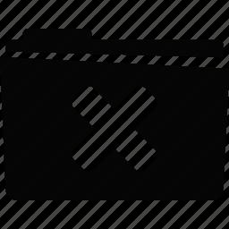 erase, folder icon