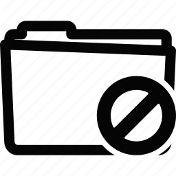 folder, stop icon