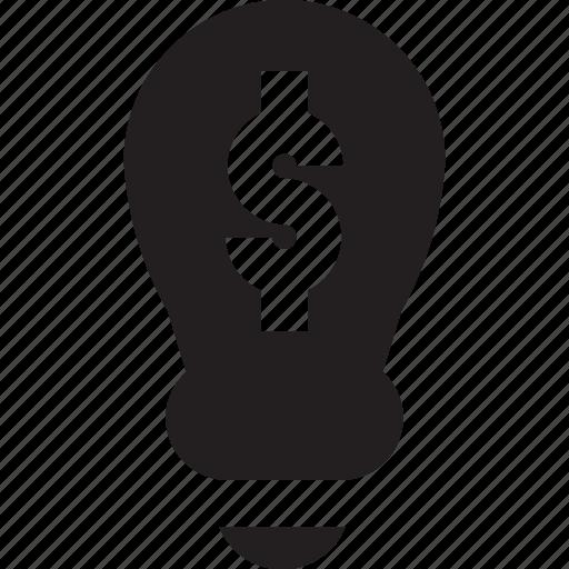 business, dollar, lamp icon