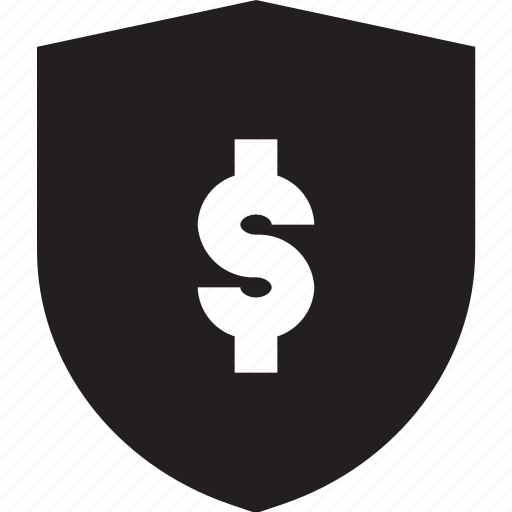 business, dollar, shield icon