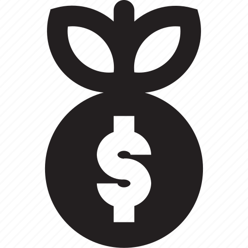 business, coin, dollar, plant icon