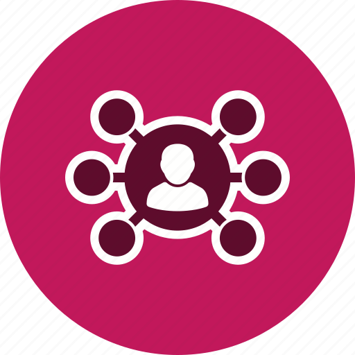 business, hierarchy, network, sharing icon