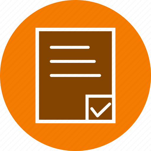 check list, document, file, list, schedule, task icon