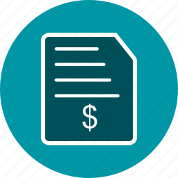 bill, invoice, order, receipt icon
