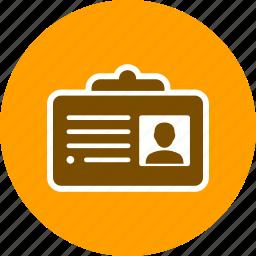 business, id, id card, identity card icon