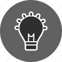 bulb, creativity, idea, light icon