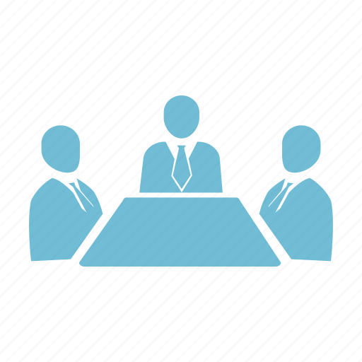 business, communication, desk, dialogue, discussion, office, table icon
