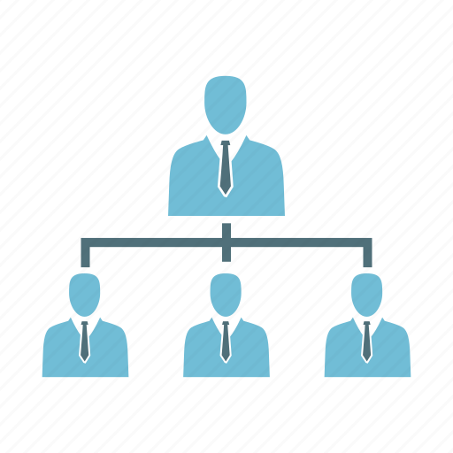 business, connection, hierarchy, network, organization, structure, team icon
