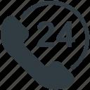 call center, customer service, full service, helpline, twenty four hours icon