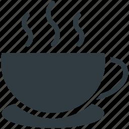 drink, hot coffee, hot drink, hot tea, tea mug icon