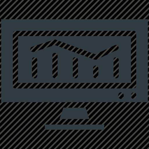 bar chart, bar graph, bars graphic, financial chart, statistics screen icon