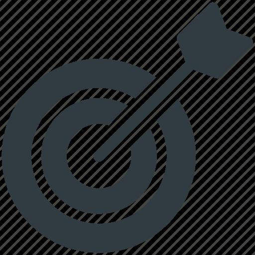 Aim, arrow, bullseye, dartboard, game, goal, target icon - Download on Iconfinder
