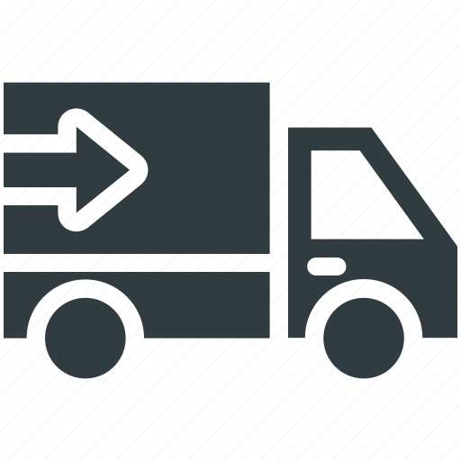 delivery service, delivery van, shipping van, transport, vehicle icon