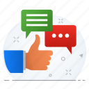 approve, approved, comment, feedback, like, message icon
