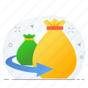 business, finance, funds, investment, loan, money icon