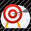 action, bullseye, business, target icon