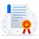 badge, business, certificate icon