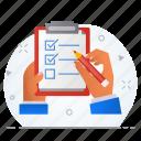 business, list, task, tickmark, work icon