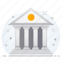 business, financial, institution, stock, treasury icon