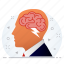 brain, business, mind, minded, person icon