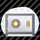 business, locker, money, safe icon