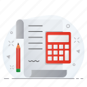 bill, business, calculator, invoice, receipt icon