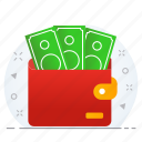 business, currency, money, save, savings, wallet icon