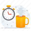 break, business, tea, time icon