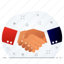 agreement, business, contract, handshake, partnership, shakehand icon