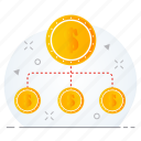 business, finance, financial, hierarchy, investment, structure icon
