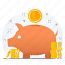 budget, business, funds, investment, saving, savings icon