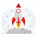boost, business, launch, missile, startup icon