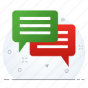chat, comment, feedback, message icon