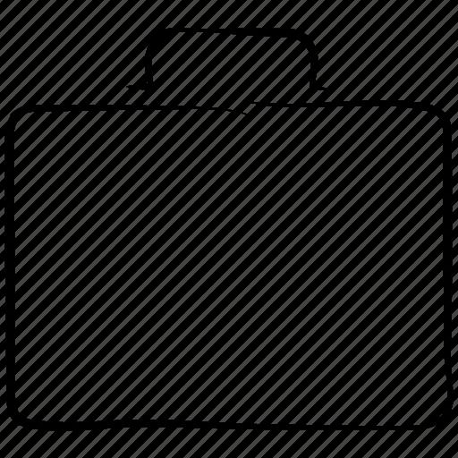 bag, briefcase, hand drawn, luggage, travel icon