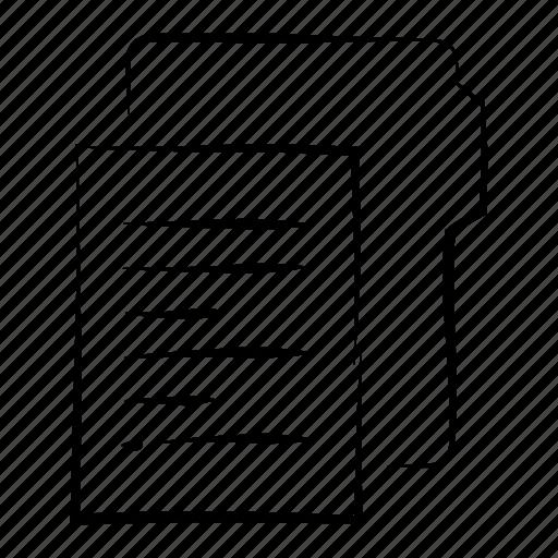 document, documents, file, folder, hand drawn icon