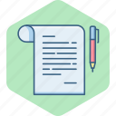 document, documents, file, page, paper, pen, sheet icon