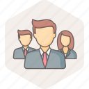 business, businessman, employee, management, manager, team icon