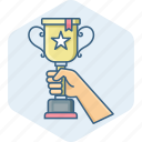 achievement, award, cup, prize, star, winner, winning icon