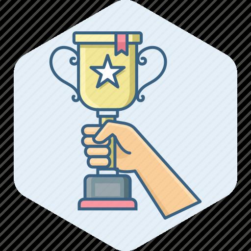 achievement, award, cup, prize, star, winner, winning icon