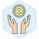 business, cash, dollar, finance, guardar, money, payment, save icon