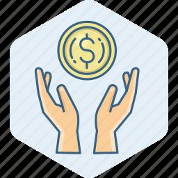 business, cash, dollar, finance, guardar, money, payment, save icon