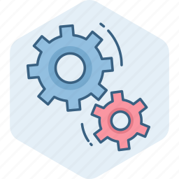 configuration, control, gear, options, process, settings, technical service icon