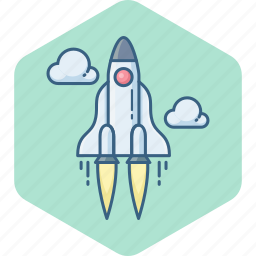 airplane, astronomy, misille, planet, rocket, space, spaceship icon