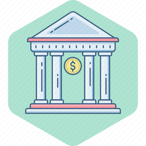 bank, building, house, property, stock, treasury, work icon