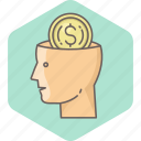 brain, business, cash, mind, minded, money icon