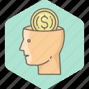 brain, money, business, cash, mind, minded