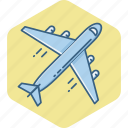 airplane, delivery, flight, plane, transport, travel, vacation icon